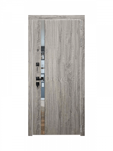 Металлическая дверь Tesla Дуб Мелфорд Грей