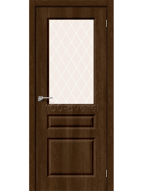 Дверь Скинни 15 ДО Dark Barnwood