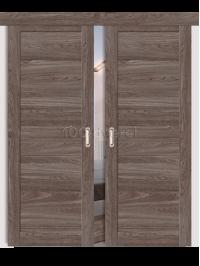 Двойная раздвижная дверь ЭкоШпон 21 3D