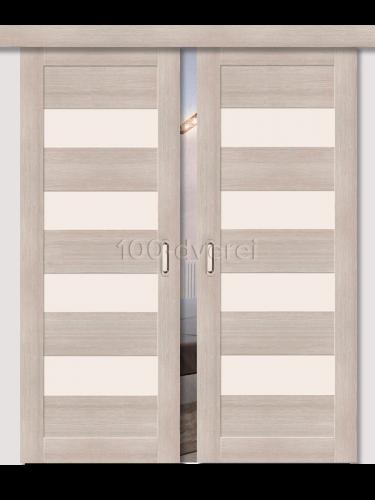 Двойная раздвижная дверь ЭкоШпон 23 3D