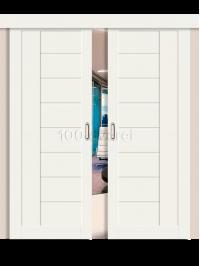 Двойная раздвижная дверь ЭкоШпон 29 3D