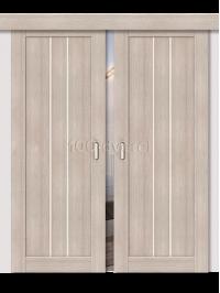 Двойная раздвижная дверь ЭкоШпон 24