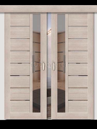 Двойная раздвижная дверь ЭкоШпон 27