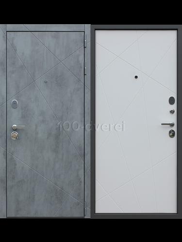 """Входная дверь Дуэт Б """"Белый матовый"""""""