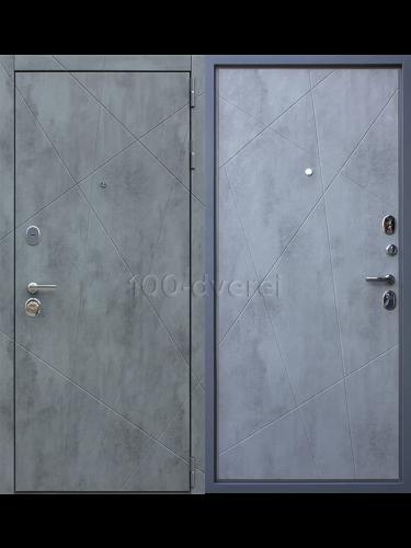 """Входная дверь Дуэт Б """"Бетон светлый"""""""