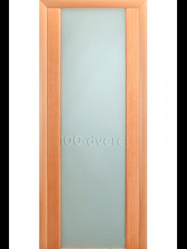 Дверь Модерн Розовый дуб с белым стеклом