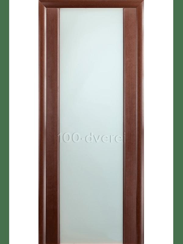 Дверь Модерн Венге с белым стеклом