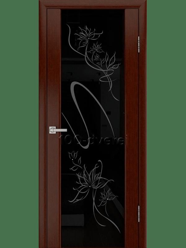 Модерн Венге с черным стеклом