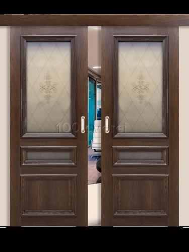 Двойная раздвижная дверь Вероника 3