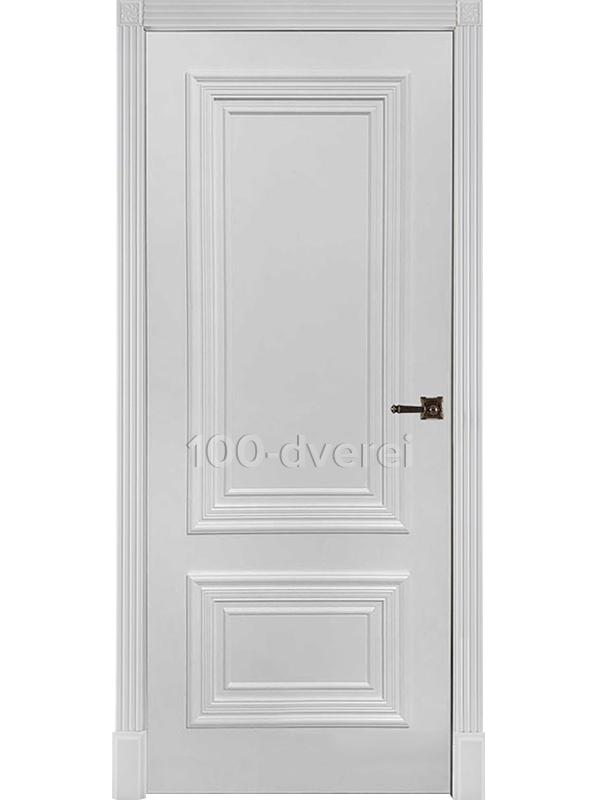 Дверь Престиж 1/2 ДГ Белая эмаль