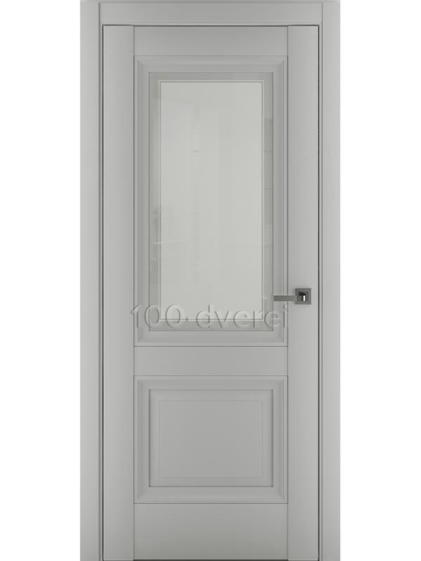 Межкомнатная дверь Венеция В2 ДО Матовый Серый