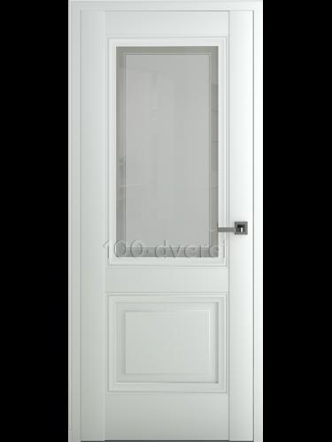 Межкомнатная дверь Венеция В3 ДО Матовый Белый