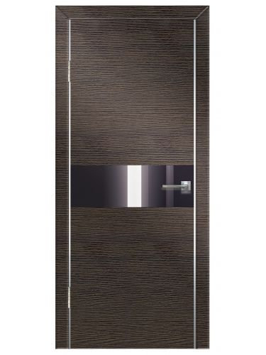 Межкомнатная дверь 501 Венге поперечный ч/с