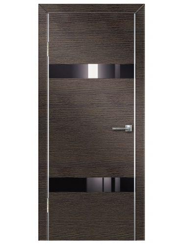 Межкомнатная дверь 502 Венге поперечный ч/с