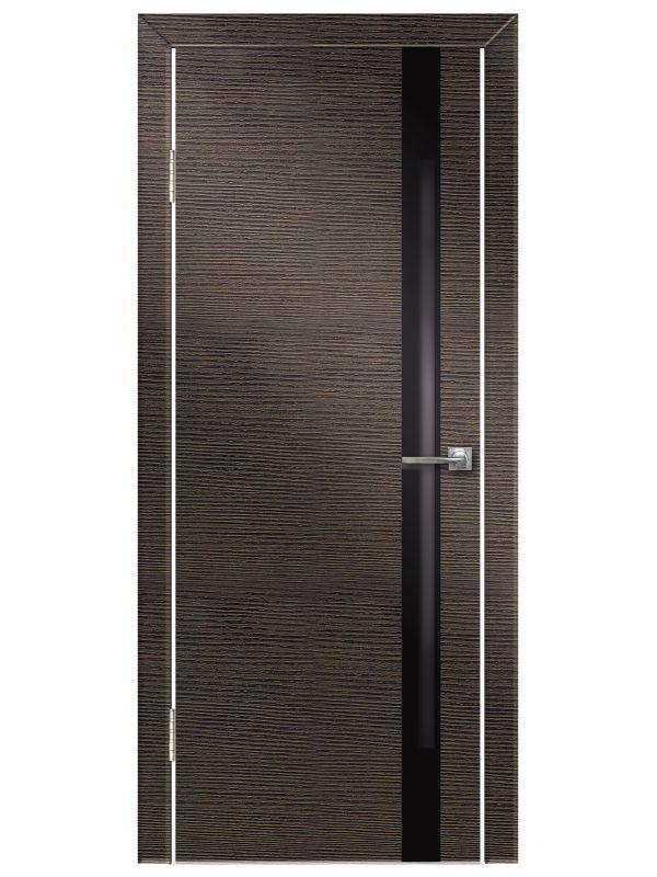 Межкомнатная дверь 507 Венге поперечный ч/с