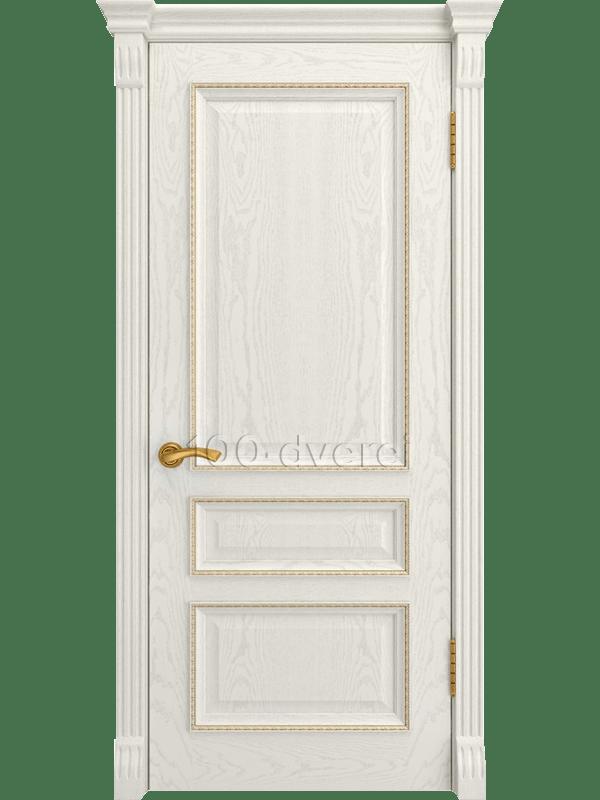 Дверь Фемида 2 Дуб RAL 9010 (Багет)
