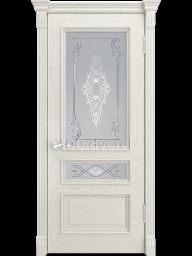 Дверь Гера 2 Дуб RAL 9010 (Багет)