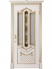 Дверь Александрия 2 Слоновая кость с патиной