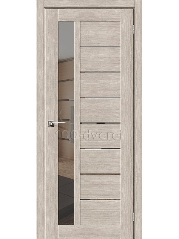 Дверь ЭкоШпон-27 Капучино Mirox Grey