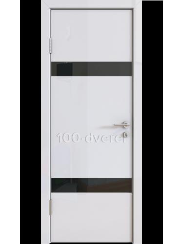 Дверь 502 Белый Стекло черное