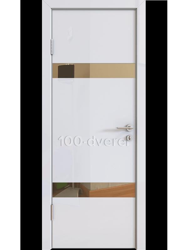 Дверь 502 Белый Зеркало бронза