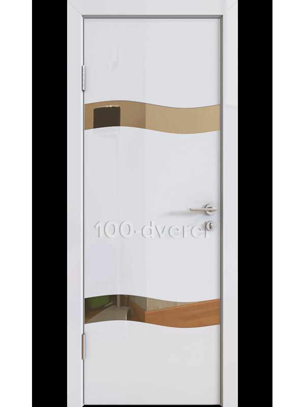 Дверь 503 Белый Бронзовое зеркало