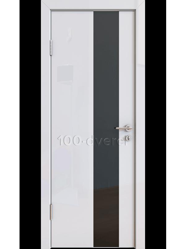 Дверь 504 Белый Стекло черное