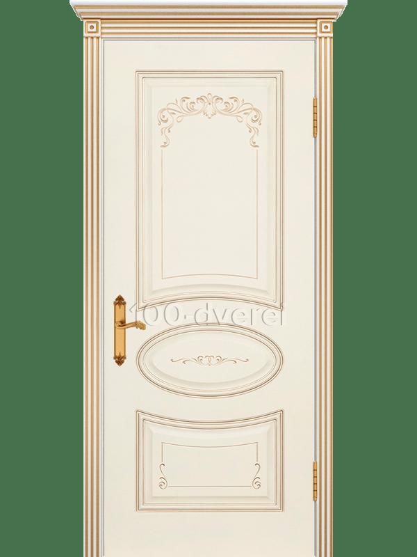 Дверь Ария 4 Грэйс ДГ Слон. кость, пат.белое золото