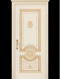 Дверь Гамма Корона ДГ Слон. кость, пат.Золото