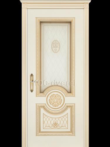 Дверь Гамма Корона ДО Слон. кость, пат.Золото