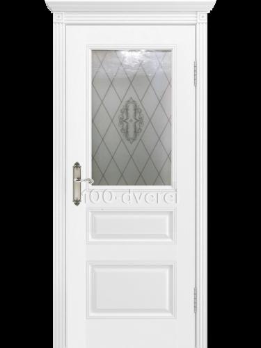 Дверь Трио ДО Белая эмаль