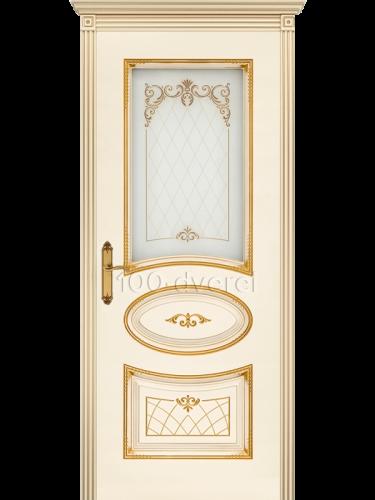 Дверь Ария 3 ДО Слон. кость, пат.Золото