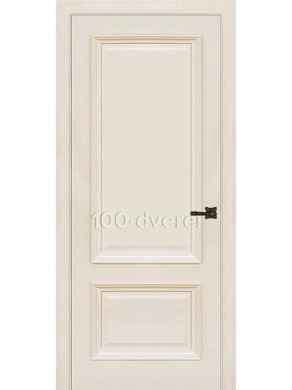 Межкомнатная дверь Неаполь 1 ДГ слоновая кость(RAL 9001)