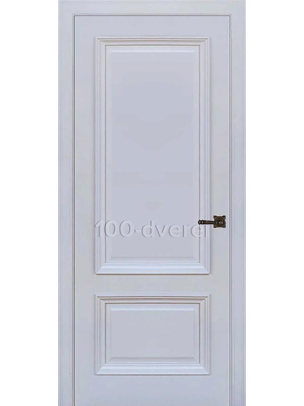 Межкомнатная дверь Неаполь 1 ДГ серый шелк(RAL 7047)