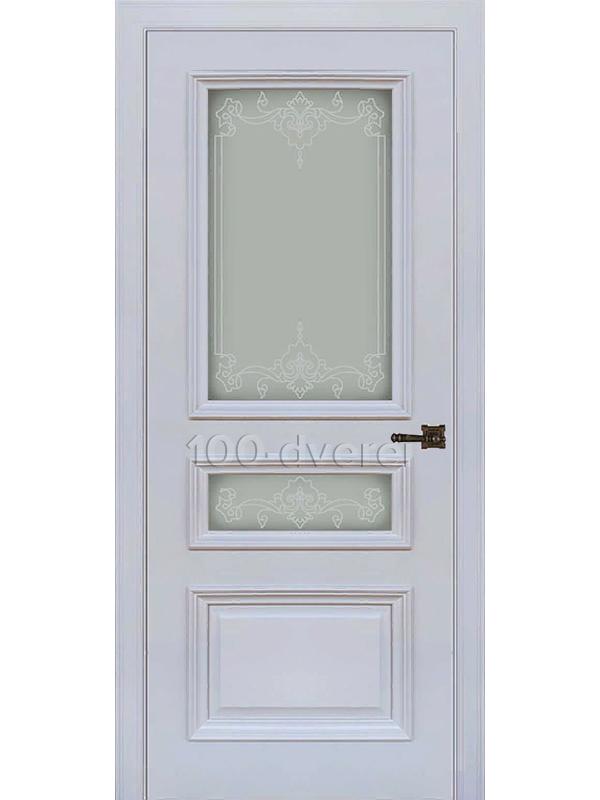 Межкомнатная дверь Неаполь 2 ДО серый шелк(RAL 7047)