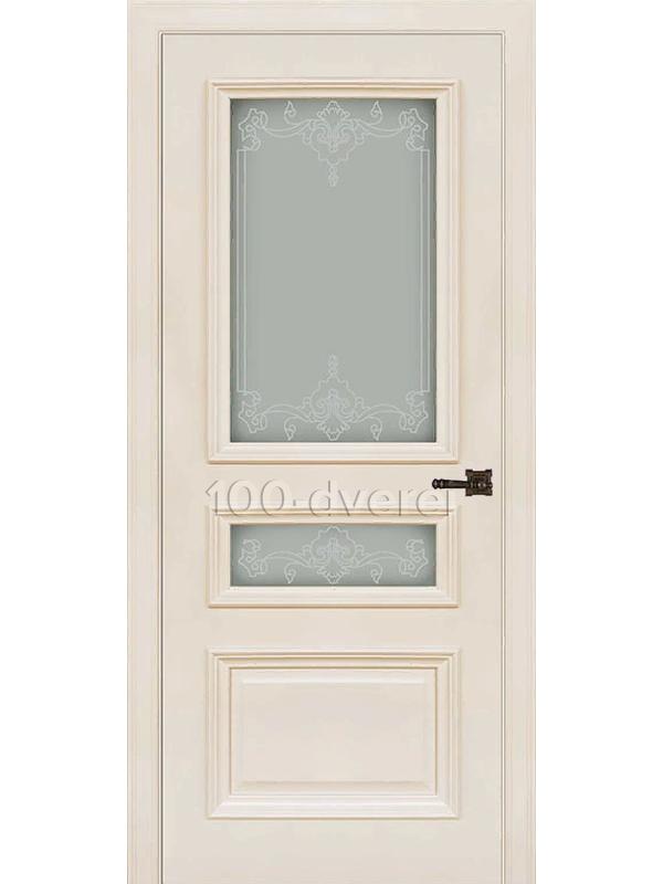 Межкомнатная дверь Неаполь 2 ДО слоновая кость(RAL 9001)
