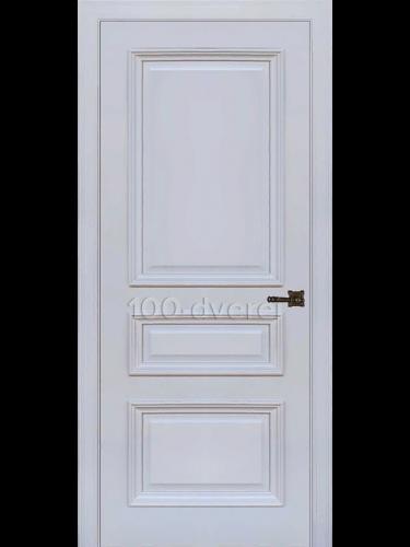Межкомнатная дверь Неаполь 2 ДГ серый шелк(RAL 7047)
