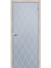 Дверь Кристалл Белое Сатинато
