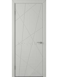 Дверь Флитта ДГ Светло-серая эмаль