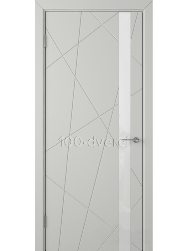 Дверь Флитта ДО Светло-серая эмаль