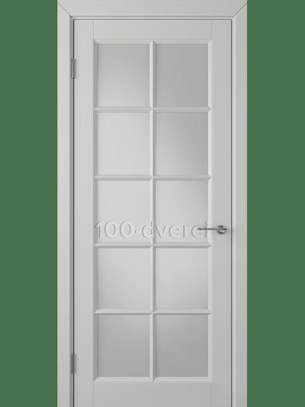 Дверь Гланта ДО Светло-серая эмаль