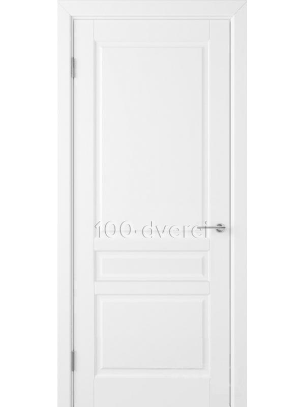 Дверь Стокгольм ДГ Белая эмаль
