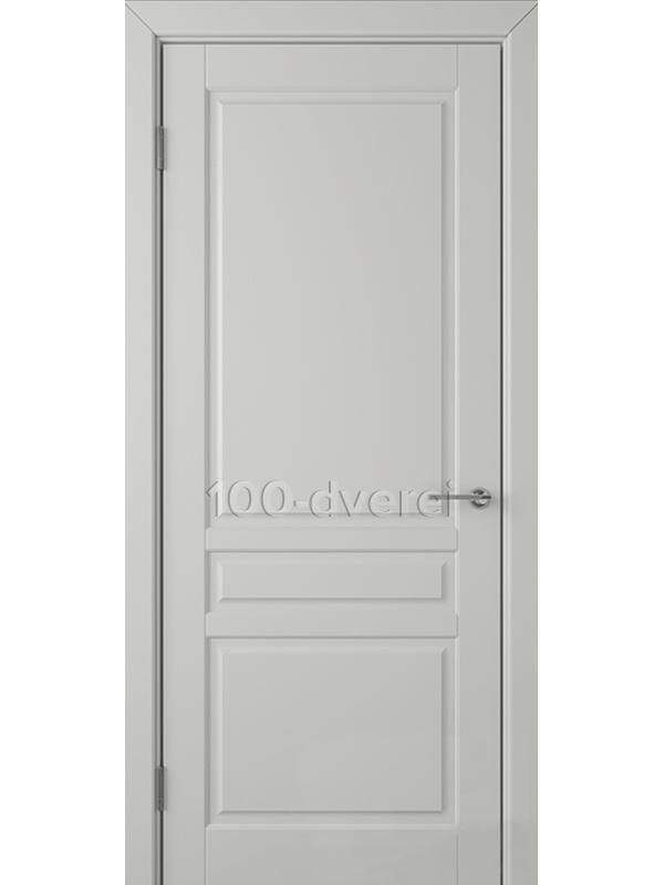 Дверь Стокгольм ДГ Светло-серая эмаль