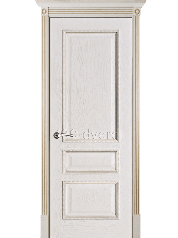 Дверь Вена ДГ Белая патина (тон 17)