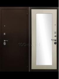 Дверь Входная Оптима 3К Зеркало Лиственница