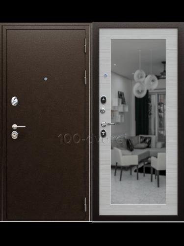 Входная дверь Спартак с зеркалом